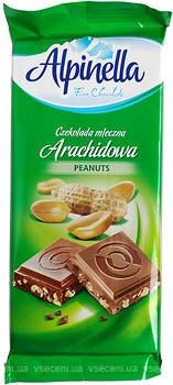 Польський молочний шоколад Alpinella Arachidowa з арахісом, 100 г