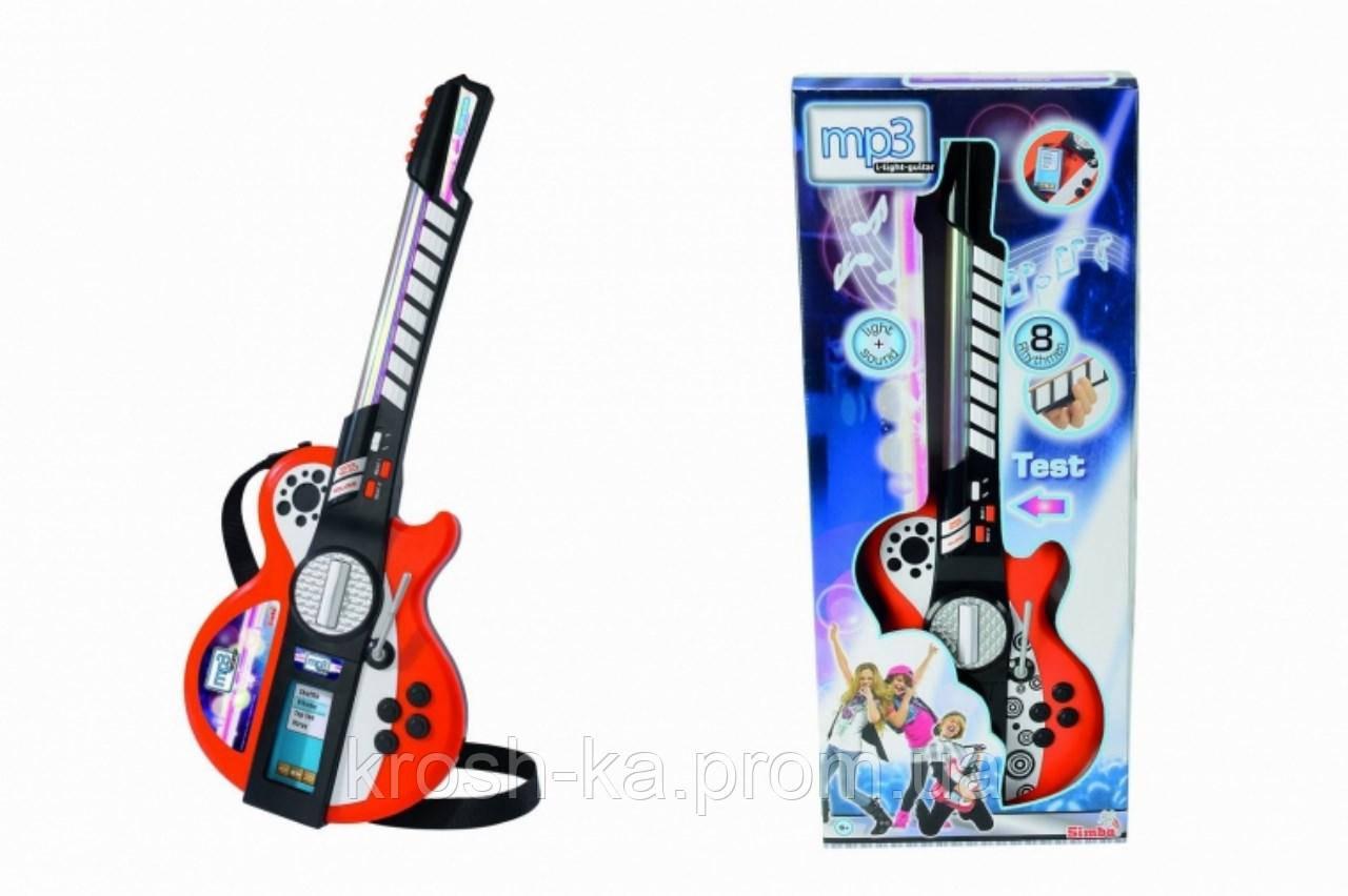 Музыкальный инструмент Электрогитара Диско с разьёмом для МП3 плеером 8 муз эффектов Симба Toys 6838628