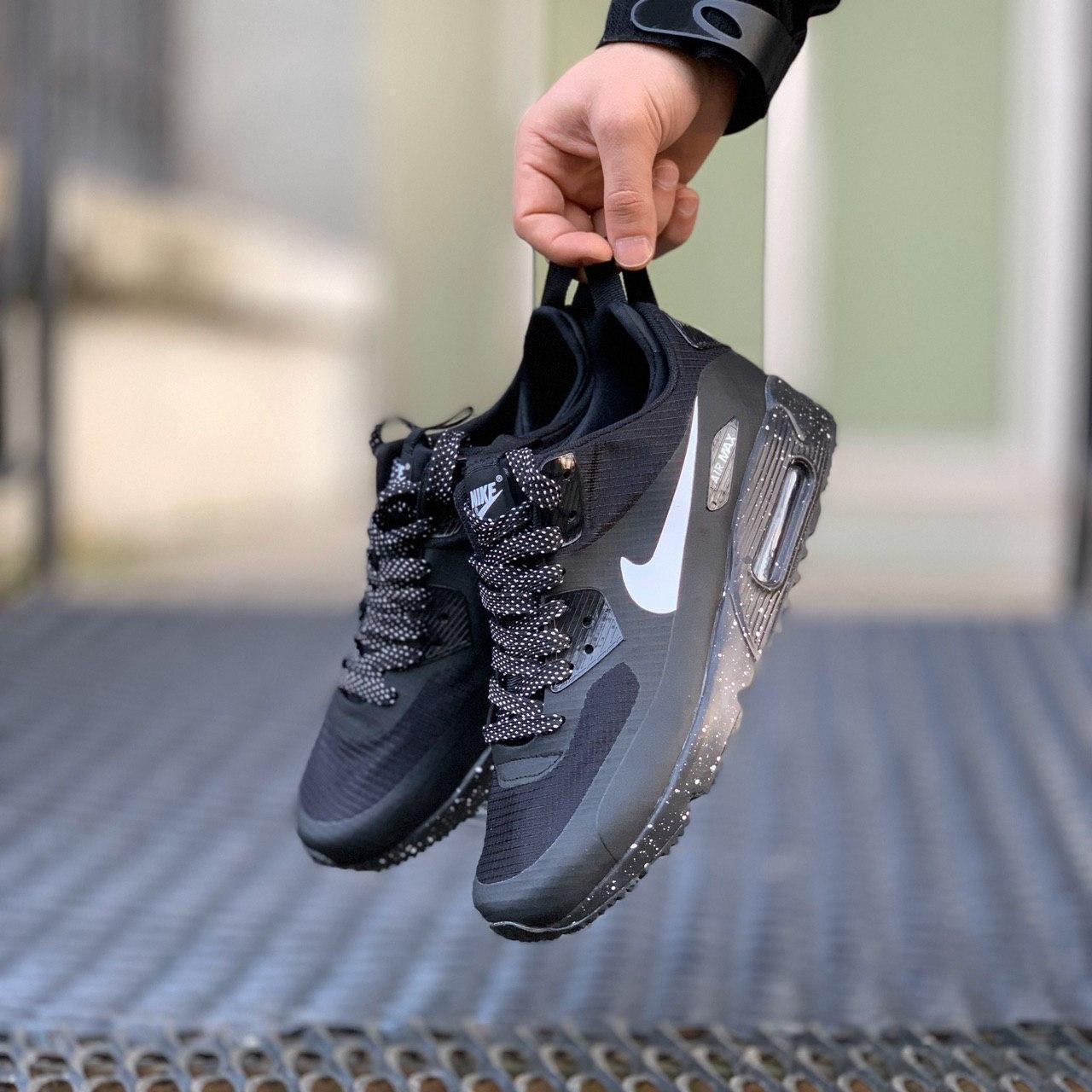 Кроссовки мужские зимние  Nike Air Max 90 Winter Black