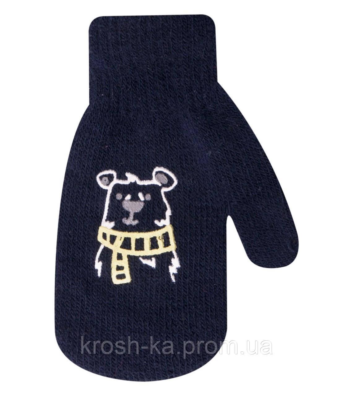 Варежки для мальчика одинарные ассорти(12)см YoI Польша R-115