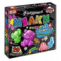 Мелки для рисования на асфальте фигурные Микс 5в1 коробка Strateg Украина 506