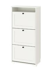 IKEA BRUSALI БРУСАЛИ Шкафчик для обуви с 3 отделениями 61x130 см (804.803.93)
