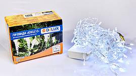 Гірлянда внутрішня є icicle З 100 LED бахрома 3,2x0,7m білий/прозорий IP20 DELUX
