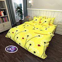 Комплект постельного белья Сатин №с51 Полуторный размер 150х215 см., фото 1