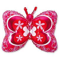 Фольгированная фигура Бабочка красная 1м Китай 1207-0832