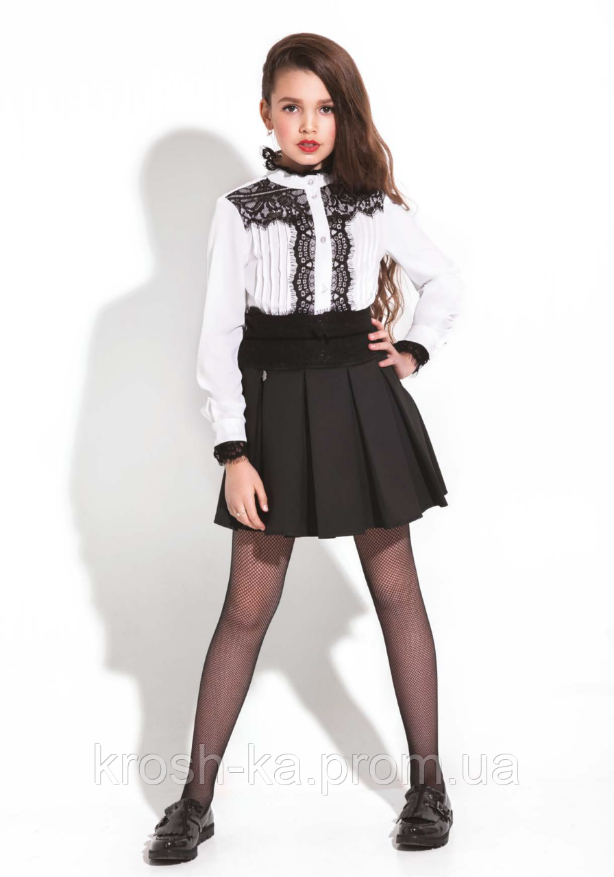 Блуза шкільна для дівчинки Женев'єва (146,152 р) (Suzie)Сьюзі Україна біла КФ-36809