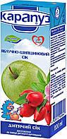 Сік дитячий яблуко шипшина 6м+ 200мл Карапуз 1060072