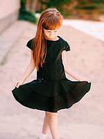 Сарафан школьный  для девочки Kinder Украина чёрный габардин 6547