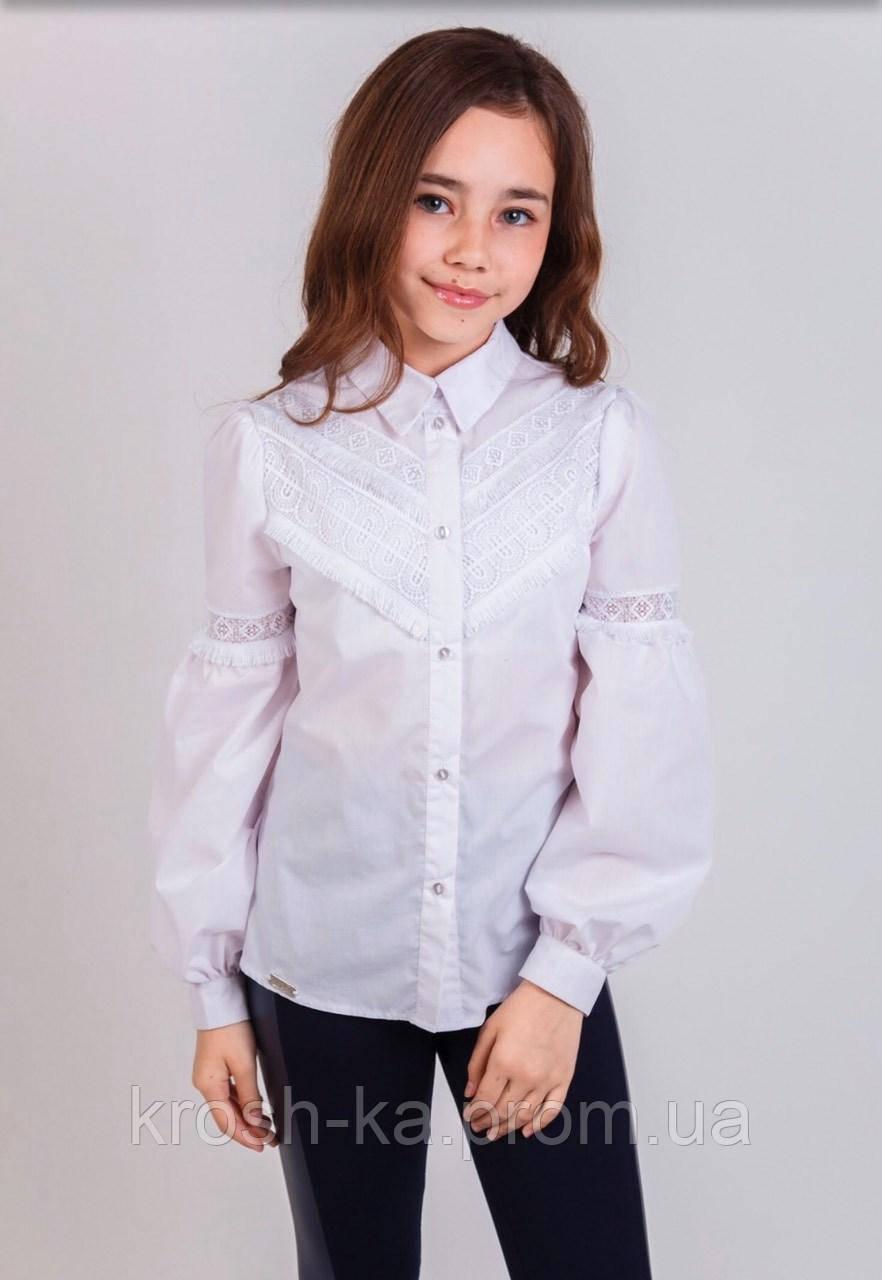 Рубашка школьная для девочки Илария (116-140р) (Suzie)Сьюзи Украина белая СЧ-31913