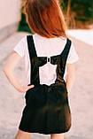 Сарафан школьный  для девочки атлас Kinder Украина чёрный 0030, фото 2