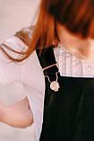 Сарафан школьный  для девочки атлас Kinder Украина чёрный 0030, фото 3