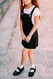 Сарафан школьный  для девочки атлас Kinder Украина чёрный 0030, фото 4