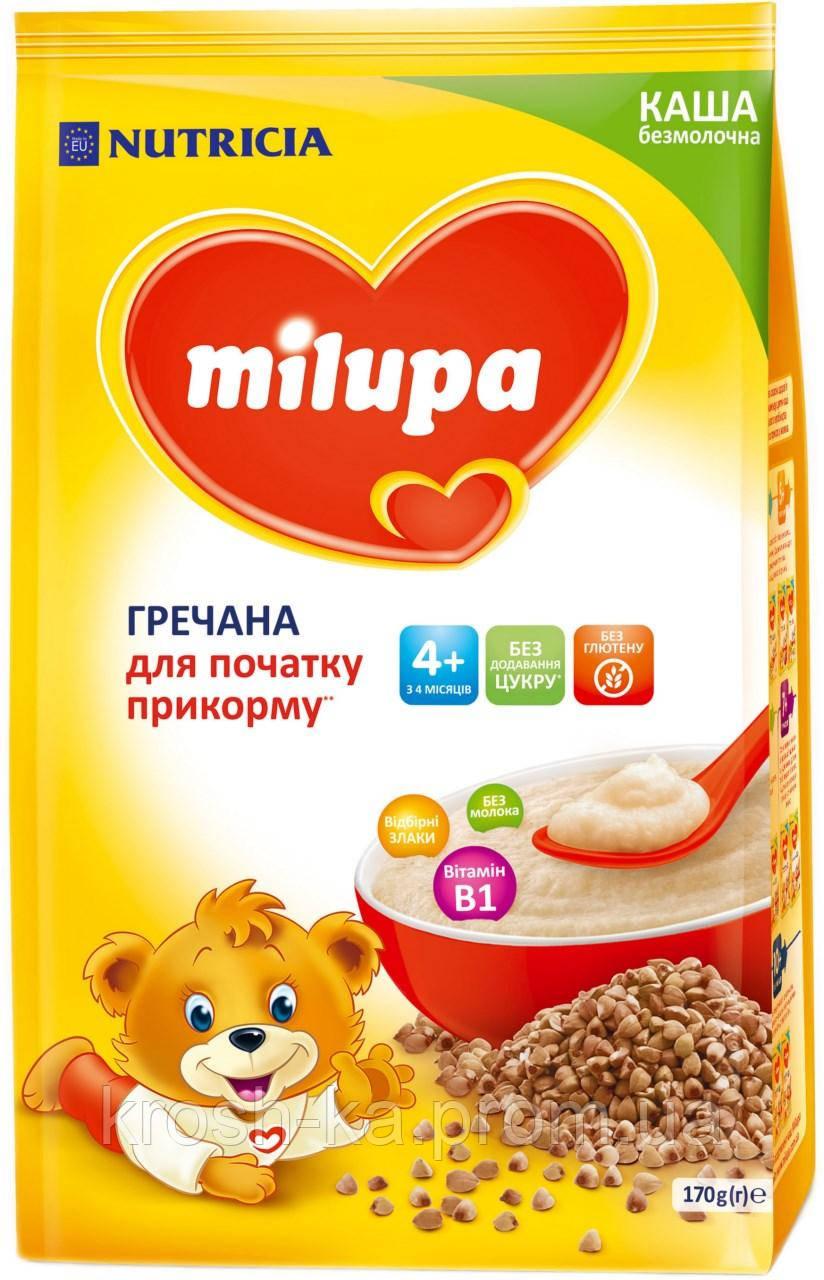 Каша безмолочная Milupa гречневая 4м+ 170г Nutricia 145610