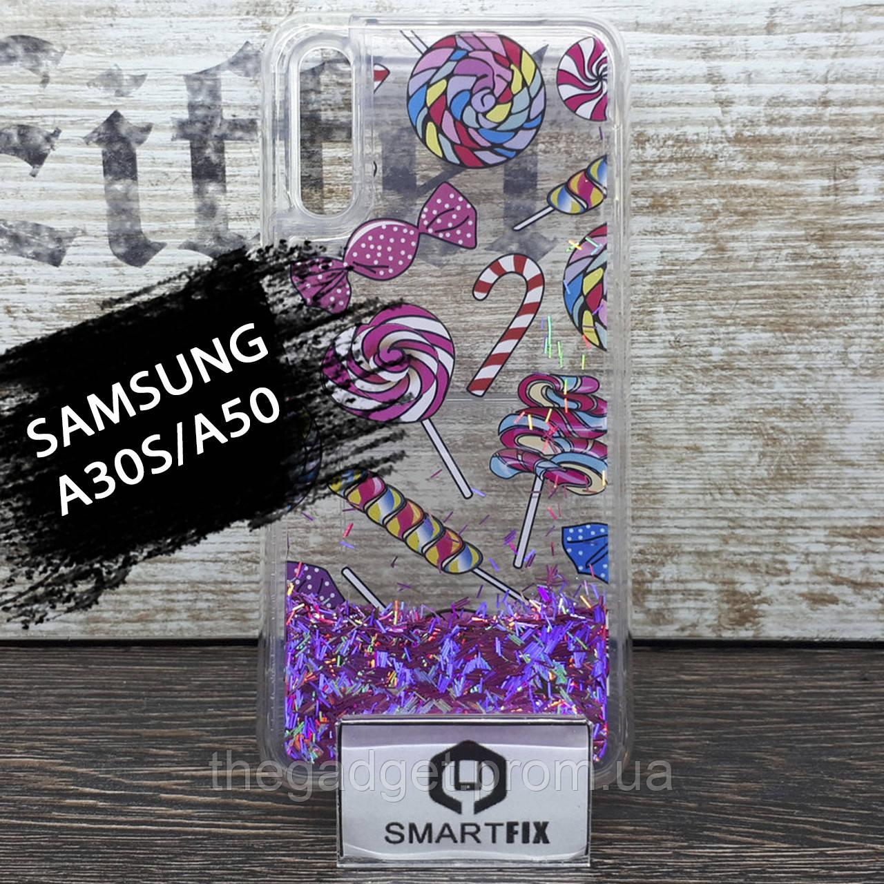 Переливающийся силиконовый чехол для Samsung A30S / A50 / A50S / A307 / A505 Lollipop