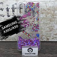 Переливающийся силиконовый чехол для Samsung A30S / A50 / A50S / A307 / A505 Lollipop, фото 1