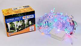 Гірлянда внутрішня є icicle З 100 LED бахрома 3,2x0,7m мульти/прозорий IP20 DELUX