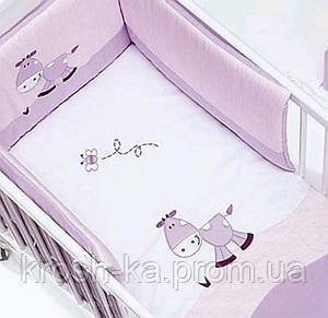 Постельный комплект в детскую кровать Italy лавандовый ALO3