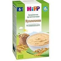 Каша безмолочная органическая мультизлаковая 6м+ 200г Hipp Германия 2897