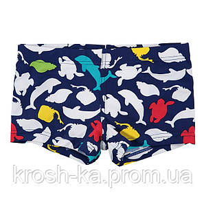 Плавки для мальчика boxer Print Fish Boboli Испания синий 813013