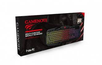 Клавіатура Havit Gaming wired HV-KB406L usb, з підсвіткою