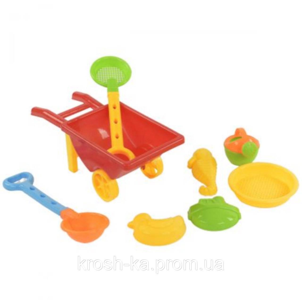 Тачка с пасочками в сетке Beach Toys Китай 815B