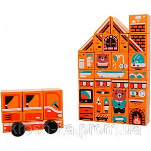 Деревянная игрушка Конструктор Home LDK5 37 деталей Levenya Cubika Украина 15153