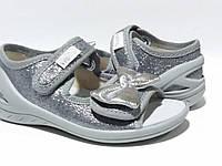 Босоножки-тапочки для девочки серебро Ева(23-30)р Waldi Украина 269-715