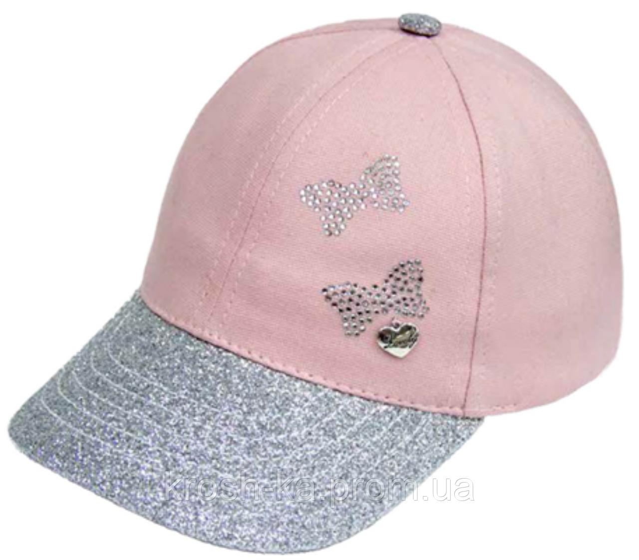 Кепка для девочки Бабочка серебро опыление (46-50)р D.Star Украина 442
