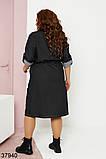 Женское джинсовое черное платье со змейкой на декольте р. 48-50, 52-54, 56-58, фото 2
