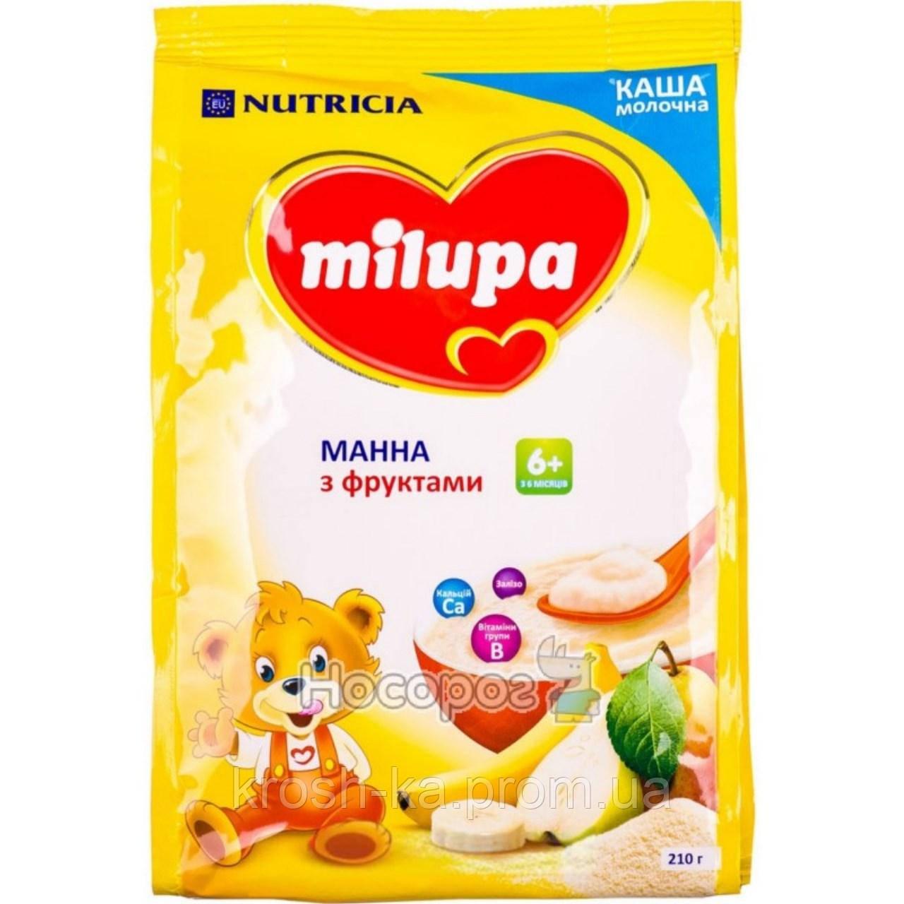 Каша молочная манная с фруктами 6м+ 210г Milupa Nutricia 115392