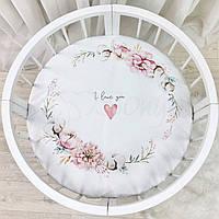 Простынь в круглую кровать Heart and flowers 70*70 Маленькая Соня(Sonya) Украина 9580412