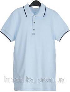 Футболка-поло для мальчика короткий рукав голубая (122-140)р Smil(Смил) Украина 114538