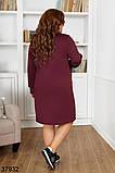 Женское стильное платье с вставками гипюра р. 50, 52, 54, 56-58, фото 2