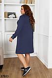 Женское стильное платье с вставками гипюра р. 50, 52, 54, 56-58, фото 3