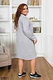 Женское стильное платье с вставками гипюра р. 50, 52, 54, 56-58, фото 4