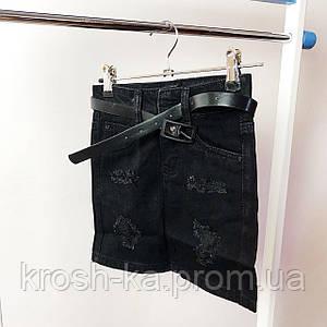 Юбка для девочки джинсовая чёрный коттон((8-14)р Resser Y-017