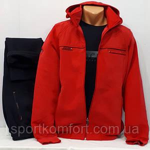 Червоний теплий спортивний костюм Soccer Туреччина тринитка брюки прямі розмір м
