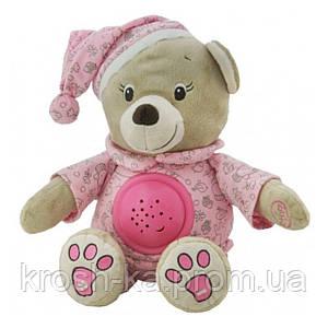 Ночник проектор детский Мишка розовый Baby Mix Польша 8465-30P