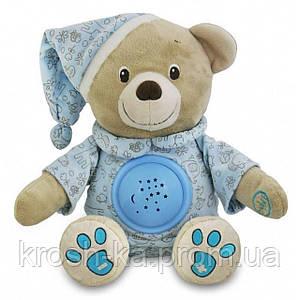 Ночник проектор детский Мишка голубой Baby Mix Польша 8465-30B
