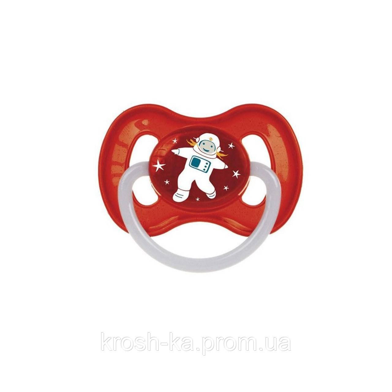 Пустышка латексная круглая 0-6м Space красный Canpol Babies Польша 23/221