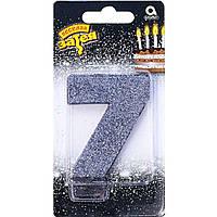 """Свеча-цифра """"0- 9"""" для торта чёрный в ассортименте 8см Весёлая затея 1502-4658"""