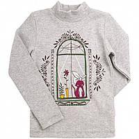 Гольф для девочки качкорса серый меланж (104-140)р (Bembi)Бемби Украина ГФ58