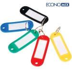 Идентификатор-брелок для ключей пластиковый 60х22мм ассорти, Economix, E41637