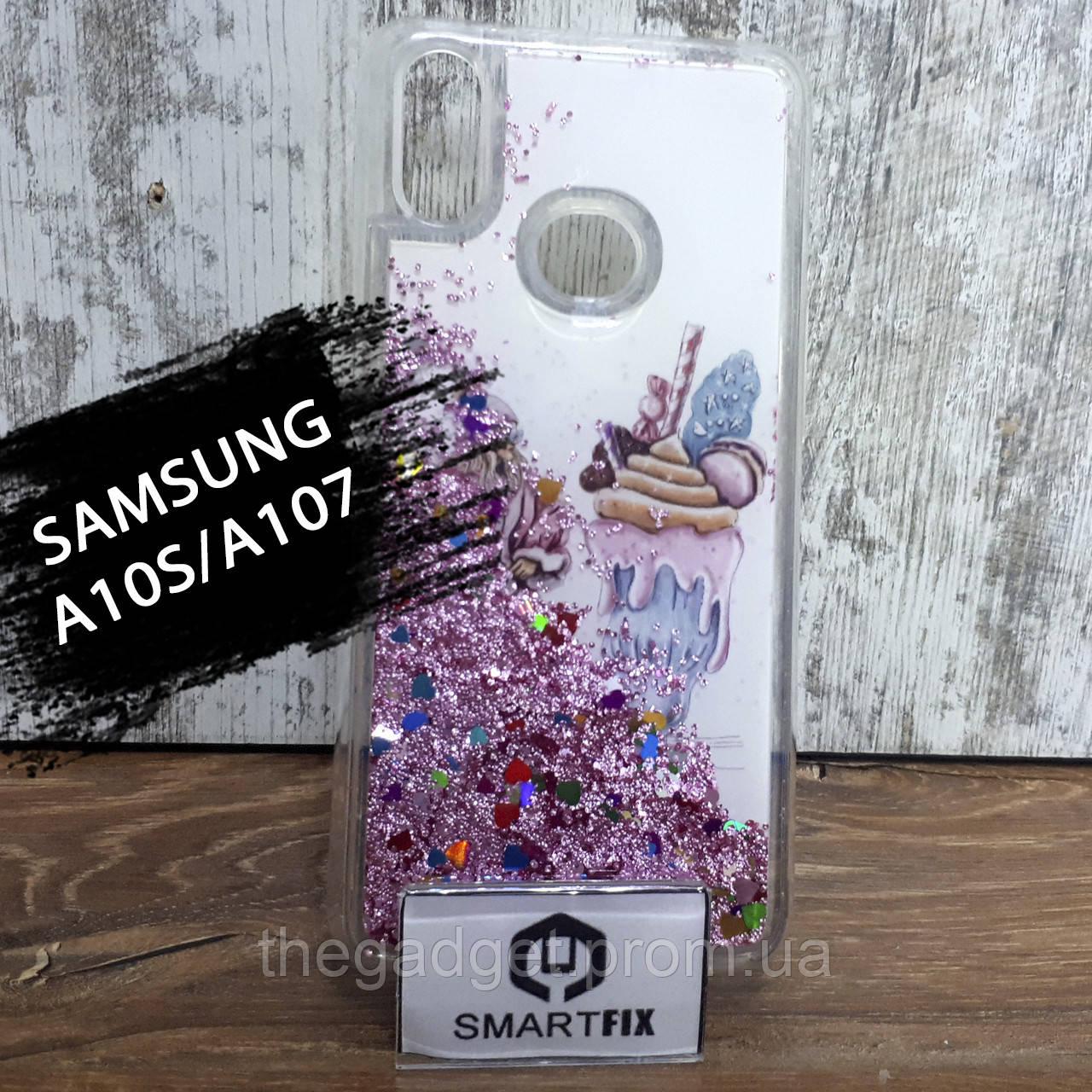 Переливающийся чехол с рисунком для Samsung A10S/A107