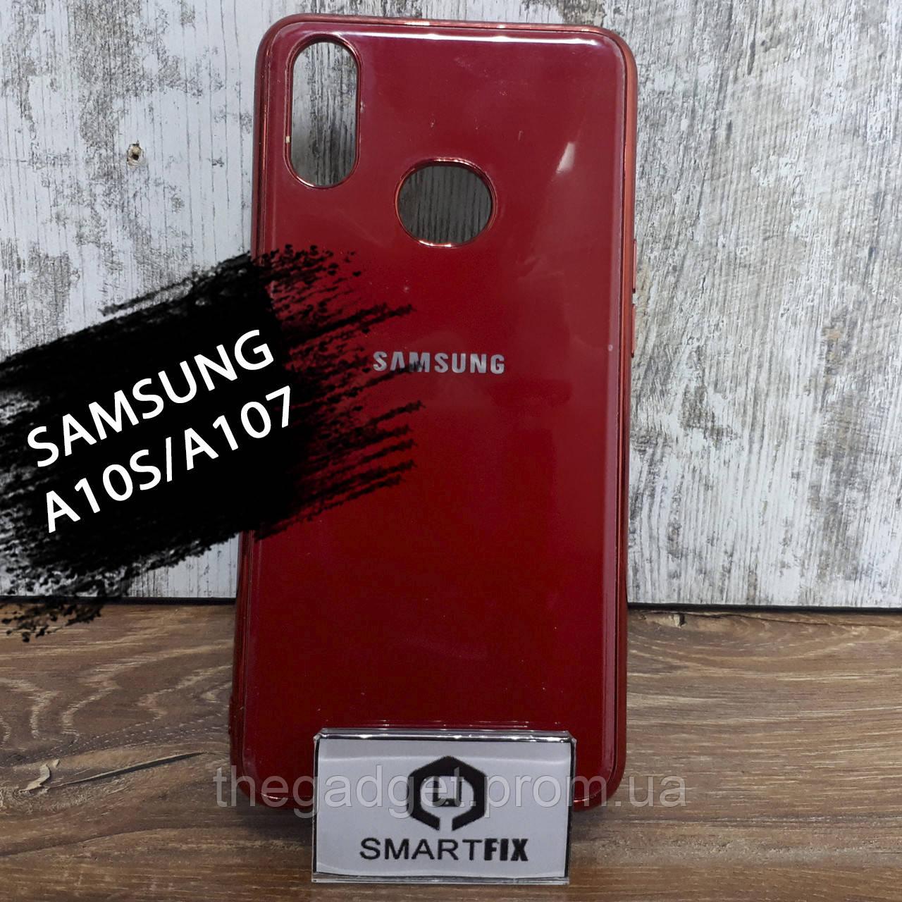 Силиконовый чехол для Samsung A10S/A107 Glossy Logo Красный