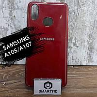 Силиконовый чехол для Samsung A10S/A107 Glossy Logo Красный, фото 1