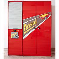 Детский шкаф 3-дверный Форсаж