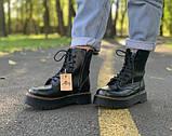 Жіночі черевики шкіряні Dr.Martens Jadon black Доктор Мартінс Жадон Чорні (36,37,39), фото 6