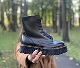 Жіночі черевики шкіряні Dr.Martens Jadon black Доктор Мартінс Жадон Чорні (36,37,39), фото 4