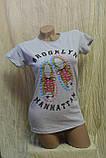 Женская футболка с надписью brooklyn manhattan, фото 7